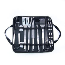 20 PCS Stainless Steel BBQ Tools Camping Grill Accessories with Carrying Box
