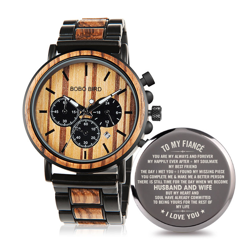 BOBO BIRD European And American Hot Eco-freidly Customized Multifunctional Life Waterproof Wooden Watches For Men Any Occasion