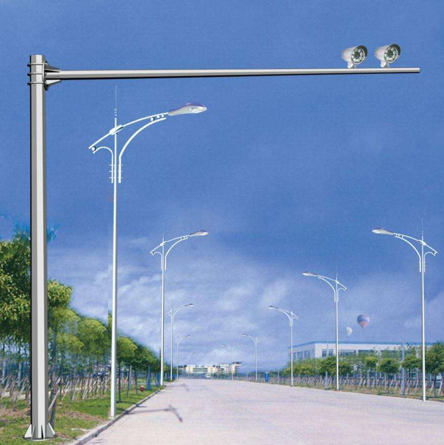 7 meter 6 meter 8 meter Steel Road Street Traffic Signal Lighting Pole And Road Camera Monitoring Pole