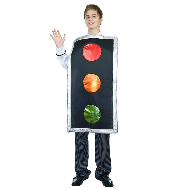 Fancy Halloween Party Traffic Light Jumpsuit Funny Carnival Performance Cartoon Costume