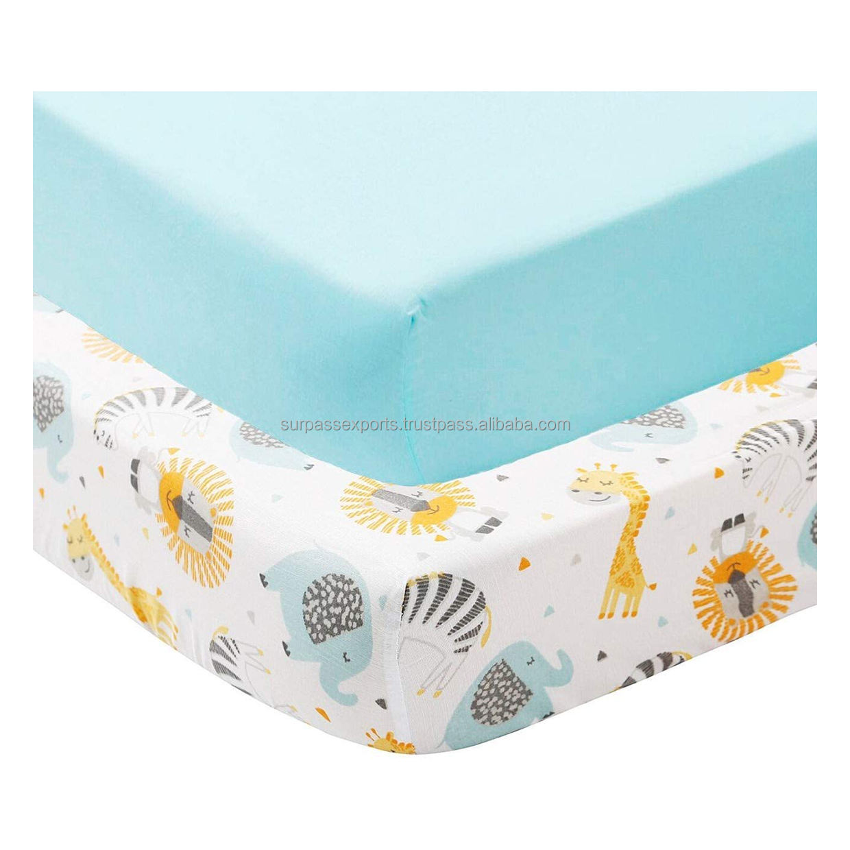 Custom Print Baby Fitted Crib Sheet for Baby Crib Bedding Set