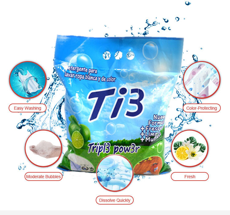 Bulk Customized Brand Design Laundry Detergent Powder