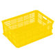 Heavy loading moving perforated collapsible plastic pallet crate,cheap fresh fruit vegetable mesh straight storage folding crat