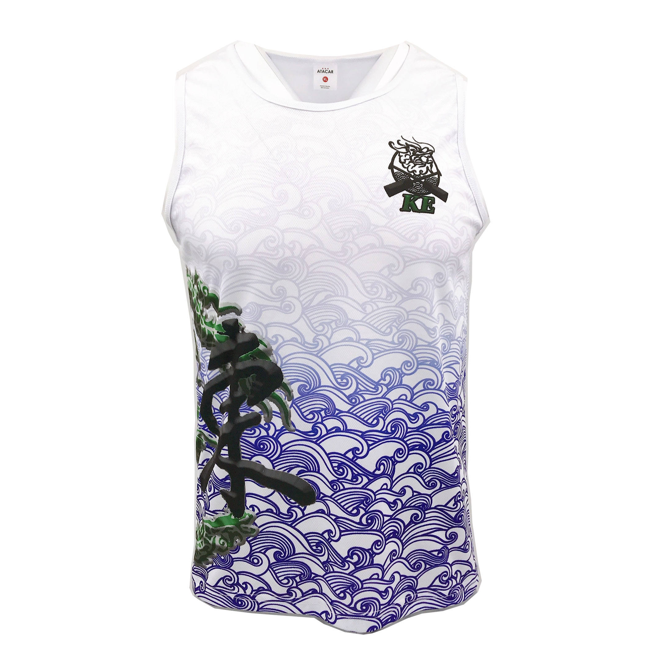 100% Polyester custom design sublimation sport vest for running,hiking,rowing etc.