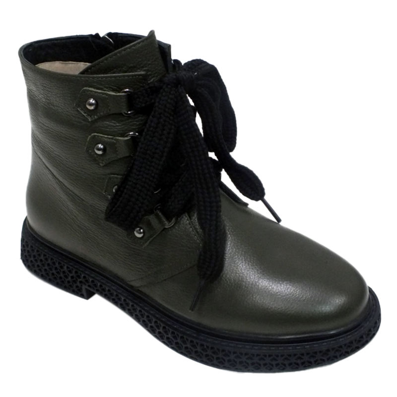 Thick Shoe Laces Black Leather Boots Women Lace Up.Classy Shoes for Ladies New Fashion Elegant School Shoes Black College Boots