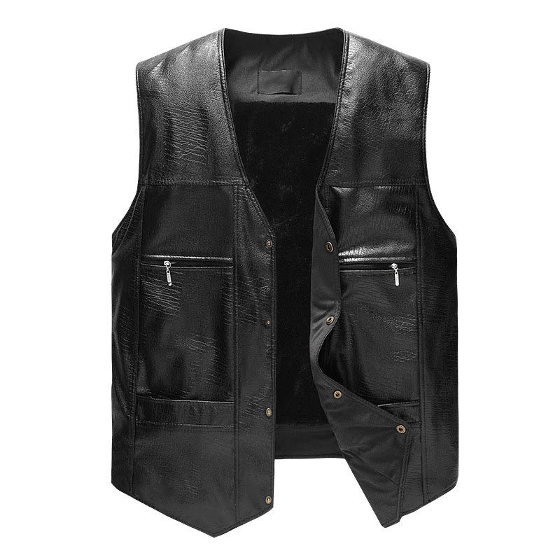 OEM Service Hot Product Men Leather Vest, Cheap price Top Quality Men Leather Vest For Sale