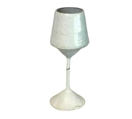 METAL IRON GOBLET WHITE MINIATURE PREMIUM QUALITY CHRISTMAS HANGING ORNAMENT