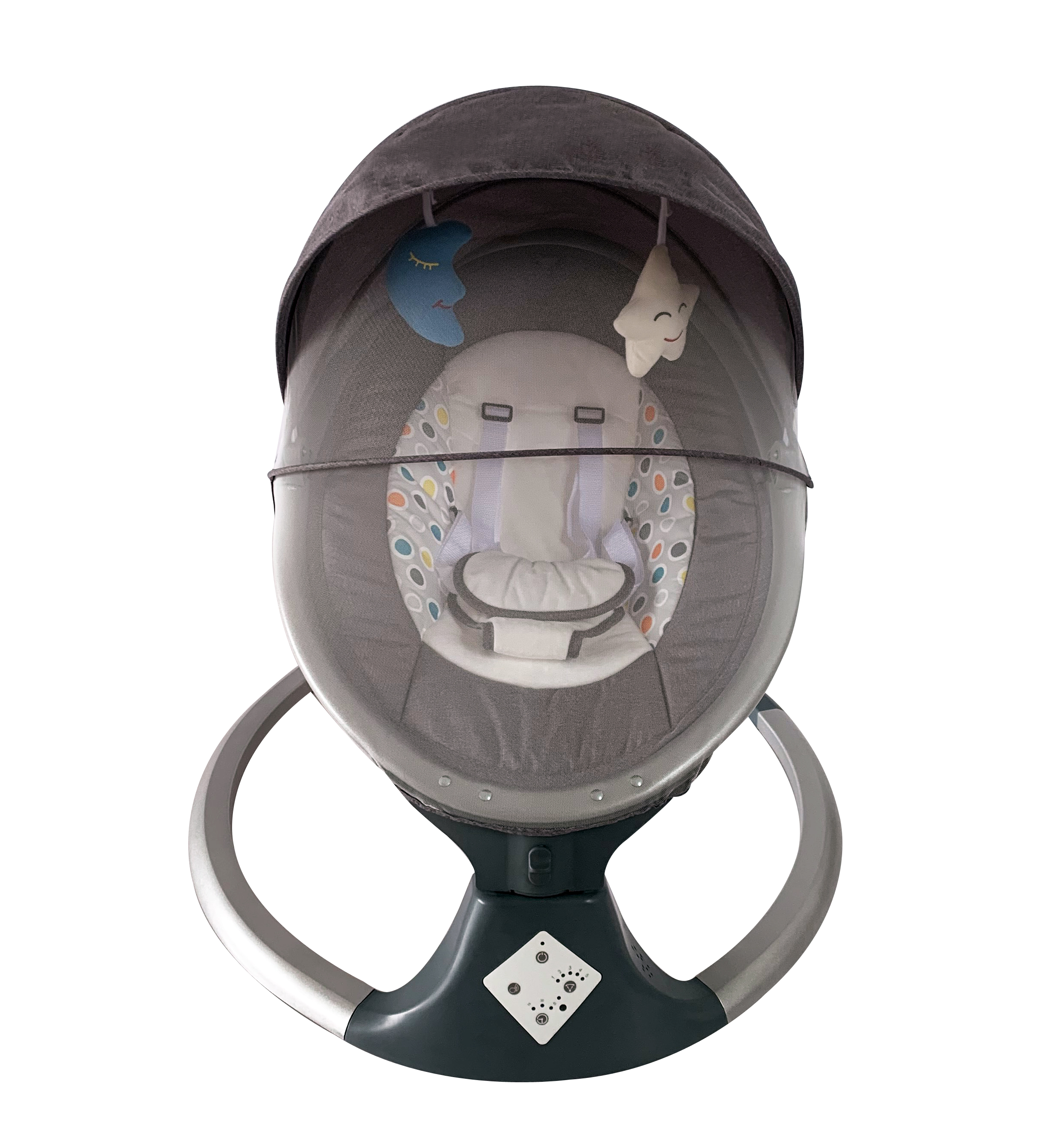 deluxe fashion pacifier lightweight with backrest recline multifunction automatic electric baby swing