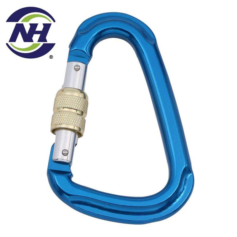 Taiwan oval keychain aluminum carabiner mountaineering d shape with CE certificate
