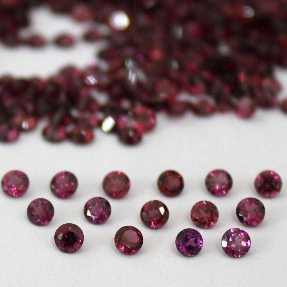 Natural 6mm rhodolite garnet round brilliant cut stone loose gemstone