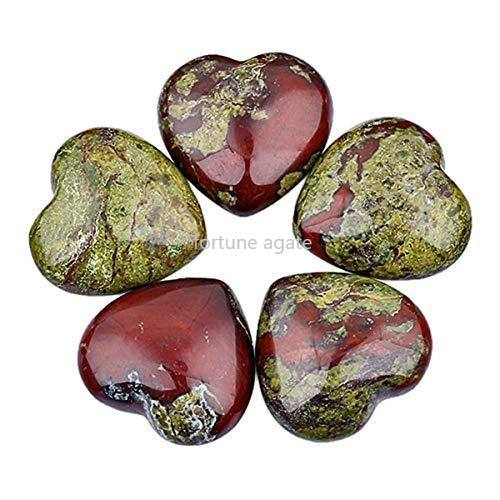 NATURAL DRAGON BLOOD JASPER POLISHED PUFFY HEART FOR DECORATION
