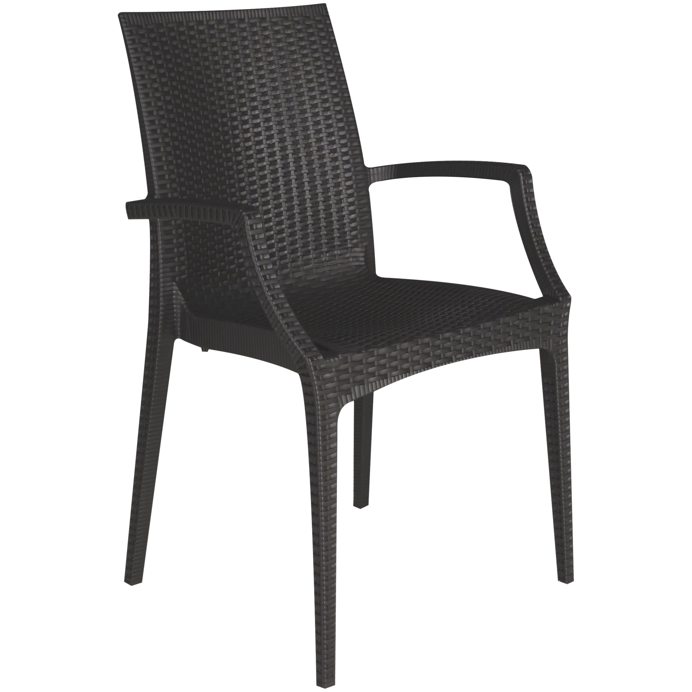 High Quality Italian Polymeric and Stackable Armchair - Made in Italy Ecological Armchair