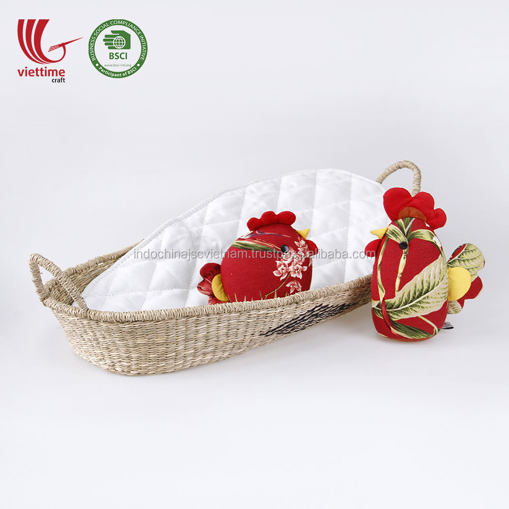 Classic Design Natural woven seagrass changing basket for baby wholesale