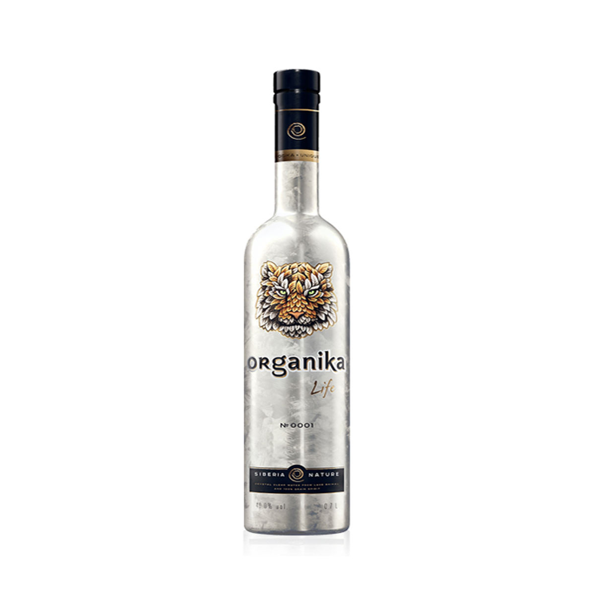 Elite Organika Life vodka with Sagan-Daila extract 700ml glass bottle, alcoholic drinks