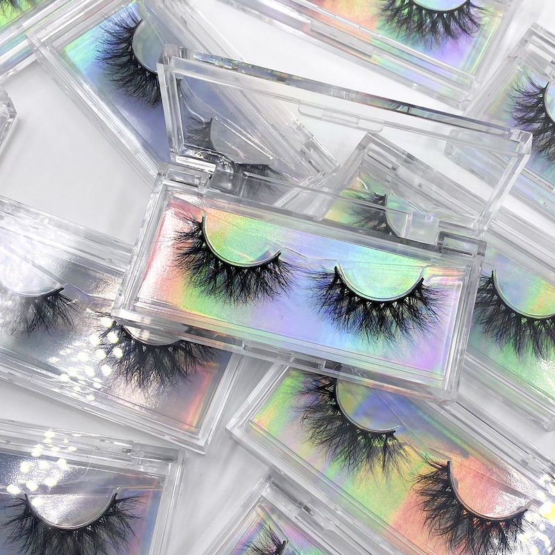 Private label wholesale 20mm 25mm 3d mink eyelashes vendor classic silk lashes logo custom eyelash packaging
