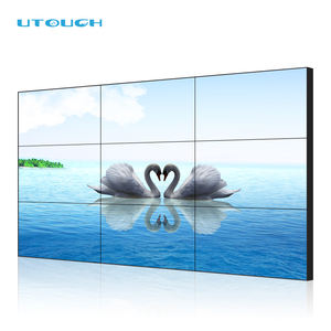 Wall Mounted LCD Datar Interaktif Panel Monitor Layar Sentuh Besar Panel Dinding