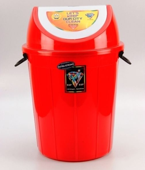 Modern Design 30 L Multipurpose High Quality Custom Color Plastic Swing Top Lid Trash / Waste / Garbage Bin made in india