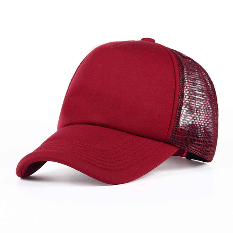 Wholesale New Style Cheap Custom Men Flat Trucker Cap Plain Hats