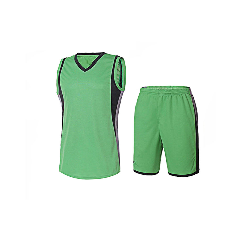Best Selling Volleyball Uniform Sleeveless Green Colored Made Of Polyester