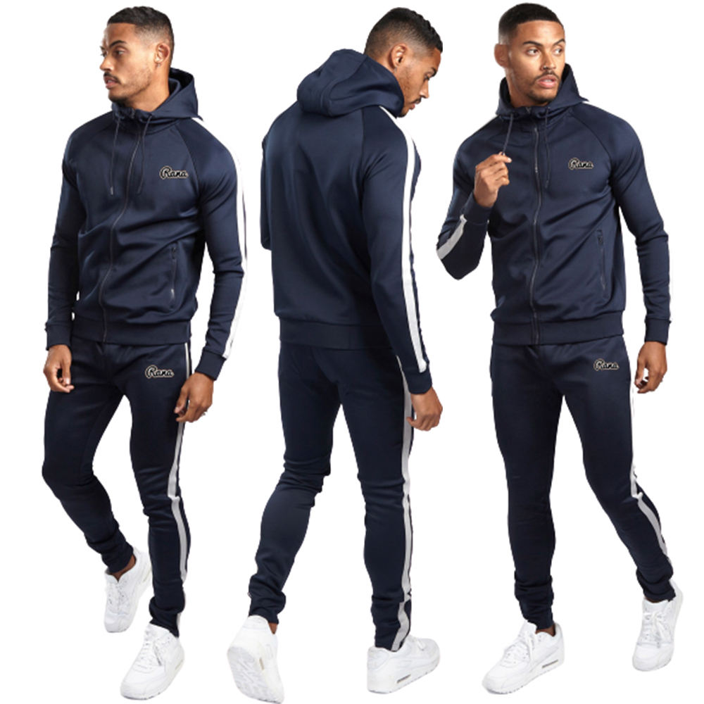 2020 Latest Design Sports Track Suits 100% Polyester Mens Sport Tracksuit Fleece Tracksuit
