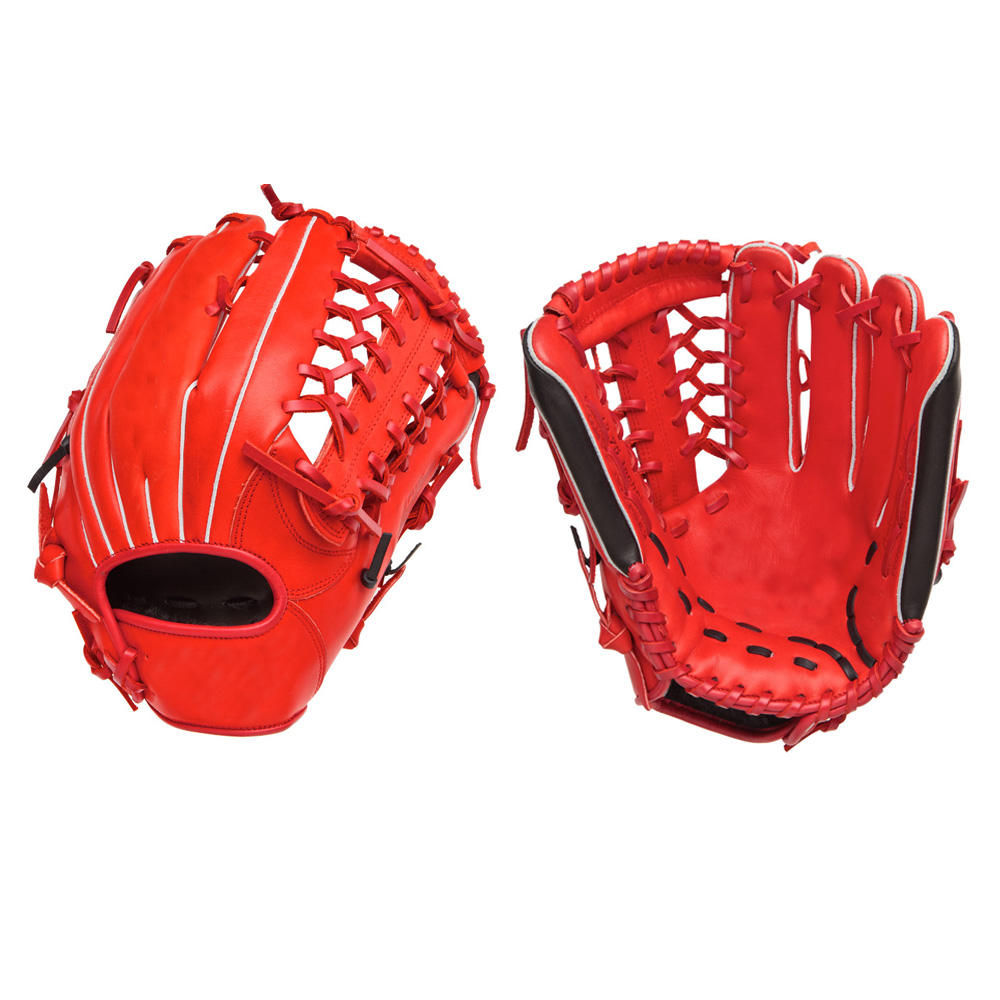 Design your own kip leather baseball gloves with high quality cowhide for left hand player