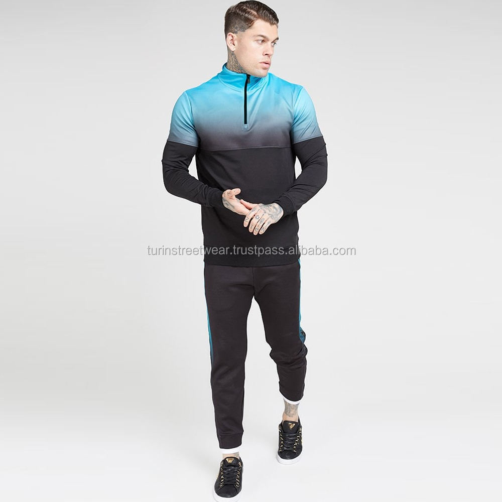 Men Sublimation polyester Tracksuit /2018 Custom Sublimated Tracksuits For Men Slim Fit/cotton