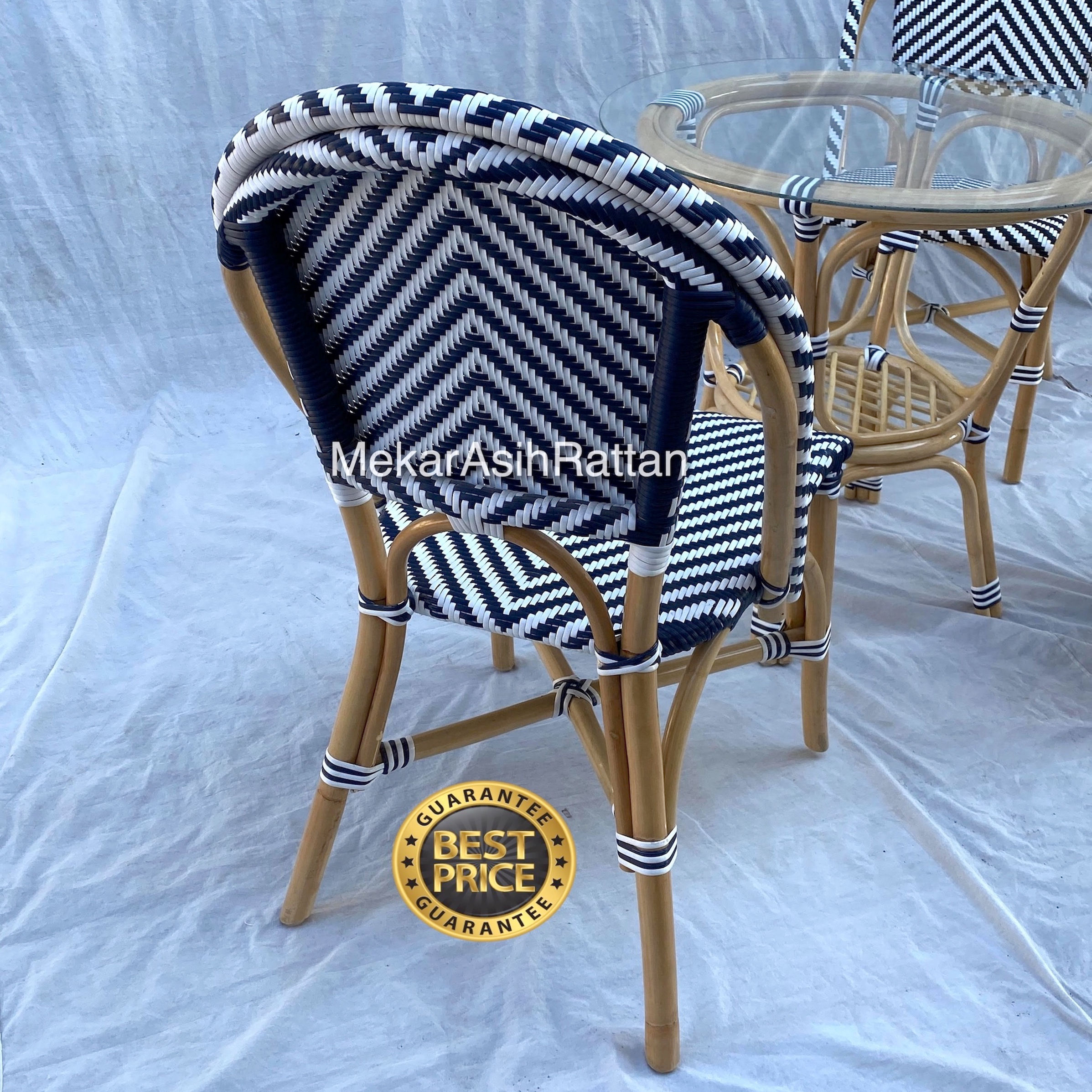 Natural Rattan Bistro Chair Best Selling France Restaurant