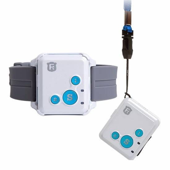 ReachFar 3 keys Mini Two-Way SOS call free App Long Battery Life Cheap GPS Pendant Tracker for Kid Child Elderly Personal