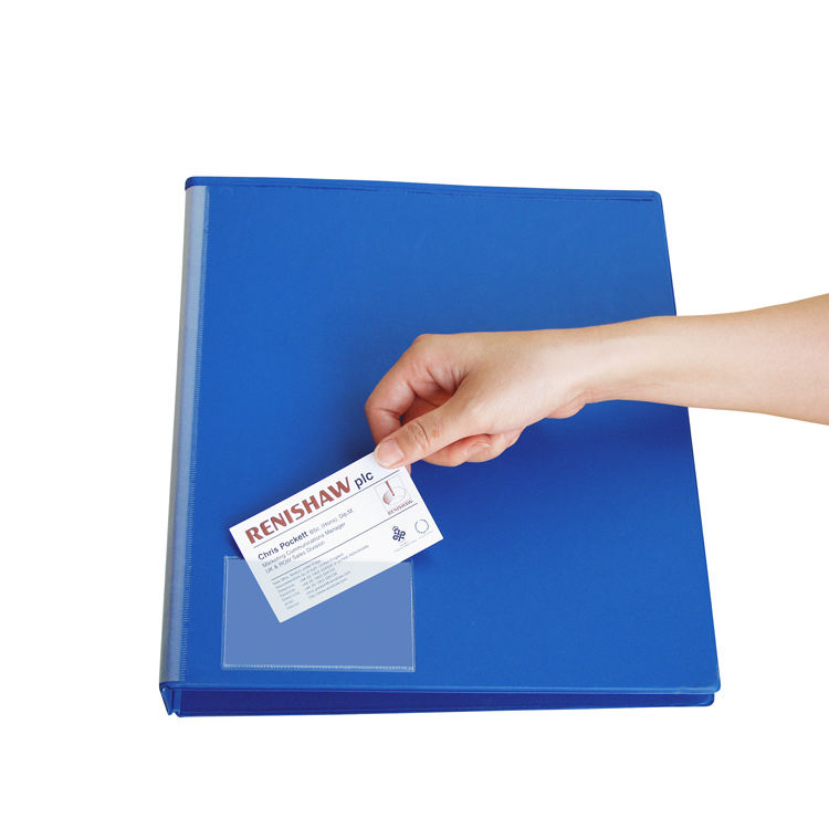 Business Card Pockets With Self Adhesive Backing