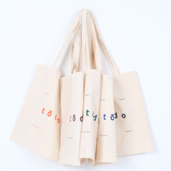 Korean style tote bag wholesale capacity Muslin Color Logo Canvas Tote Bag MADE IN KOREA