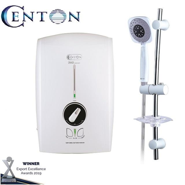 Centon Electric Instant Water Heater Geyser for shower GD600EP White AC pump