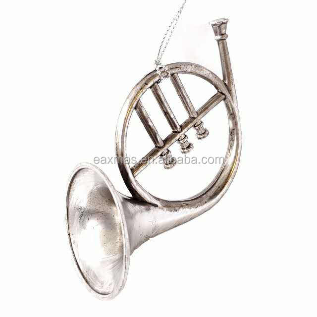 Best Quality Reasonable Price Bronze Color Plastic Classical Musical Instrument ornament Christmas decoration set