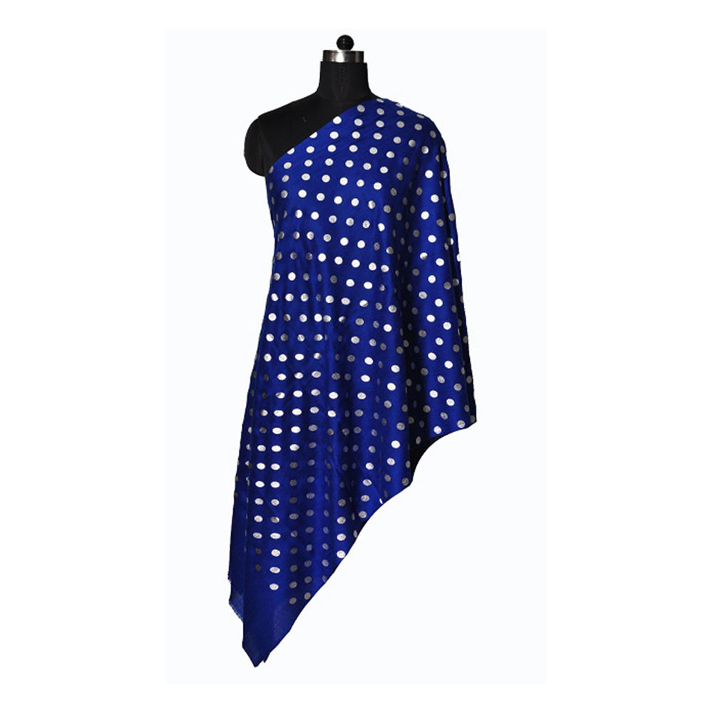 Wool Foil Small Dot Printed Scarves for Women