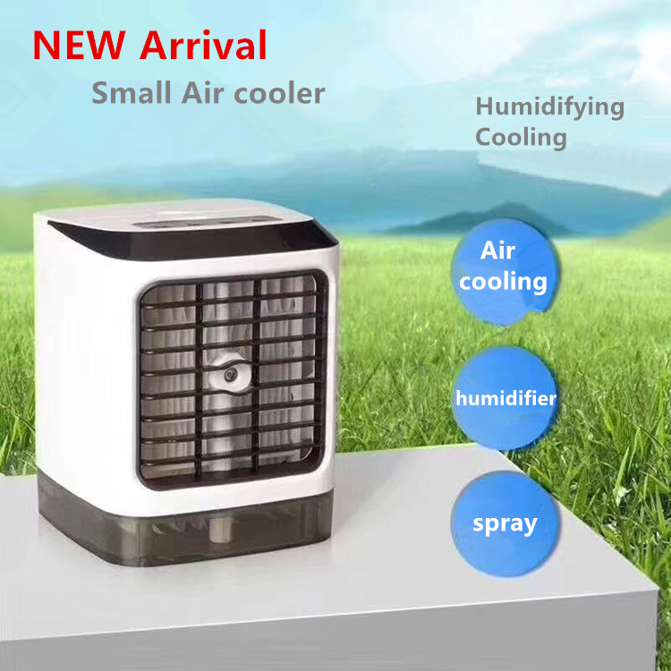2020 Popular Mini Size LED Remote Control USB Potable air conditioner cooler with humidifier