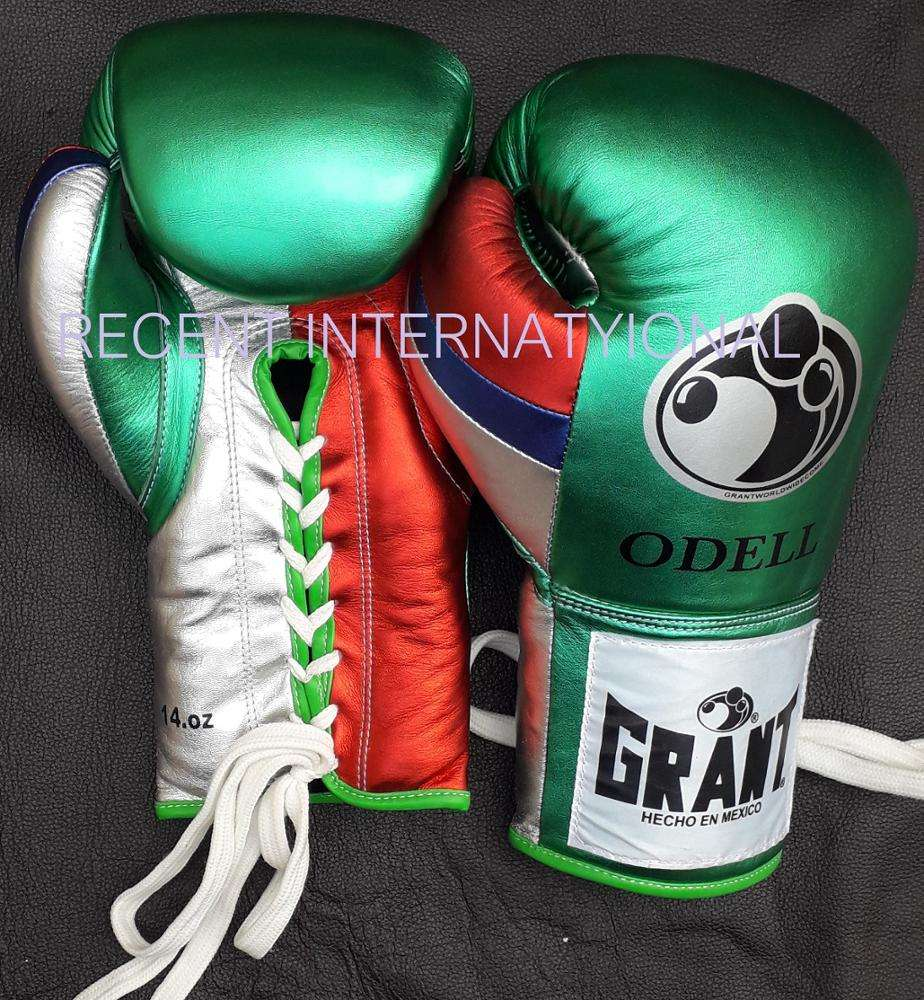 Metallic Pearl leather Custom Made Boxing Gloves