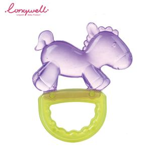 Ningbo Longwell Newborn Teething Infant Rattle Toy EN71 BPA Free EVA Water Filled Baby Teether Animal Horse Rattles And Teethers