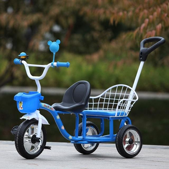 Quality plastic and steel frame pedal powered operation tricycles kids