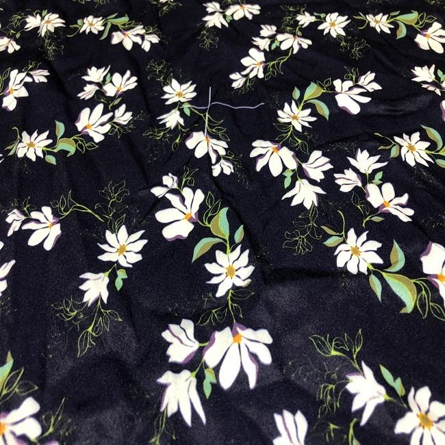 manufacturers export quality american crepe 100 polyester print scarf fabric for women, ladies garment and home textiles
