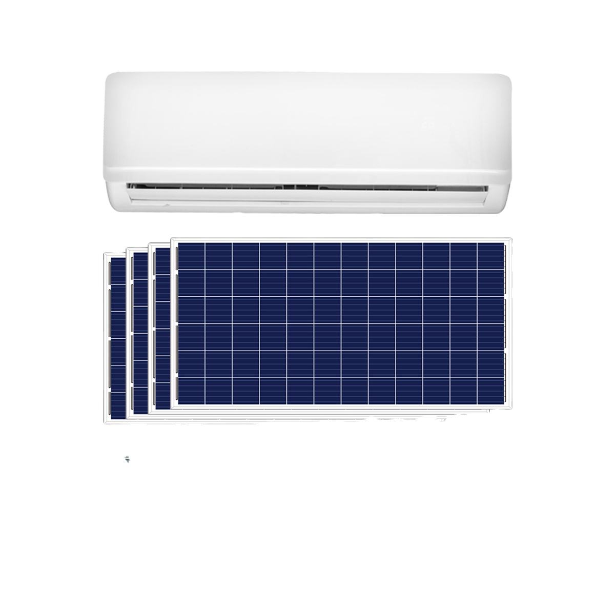 12000BTU 1 ton 1.5HP acdc Hybrid cooling Solar Powered Split Air Conditioner