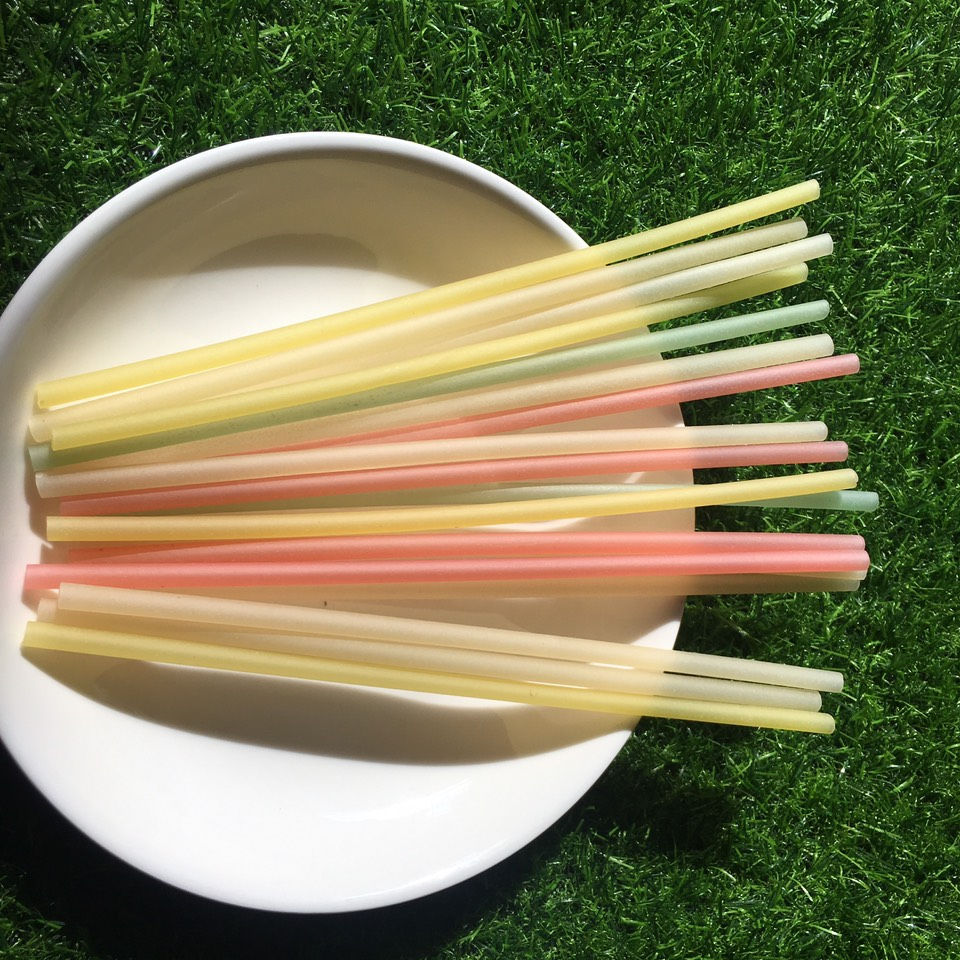 Rice straw paper Vietnam/rice drinking straw edible rice drinking straws/rice flour drinking straw bamboo drinking rice