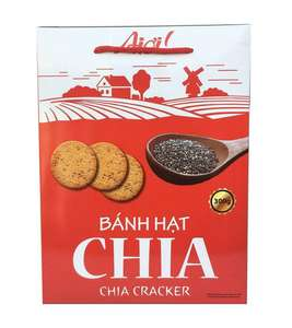 Krokante Cracker Knapperig Chia Cracker Biscuit