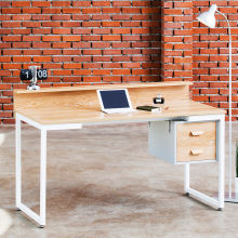 *design/modern, Home/office Furniture Computer Desk Metal Square Frame Desk Office Furniture with Bookshelf, Wooden IRON Modern
