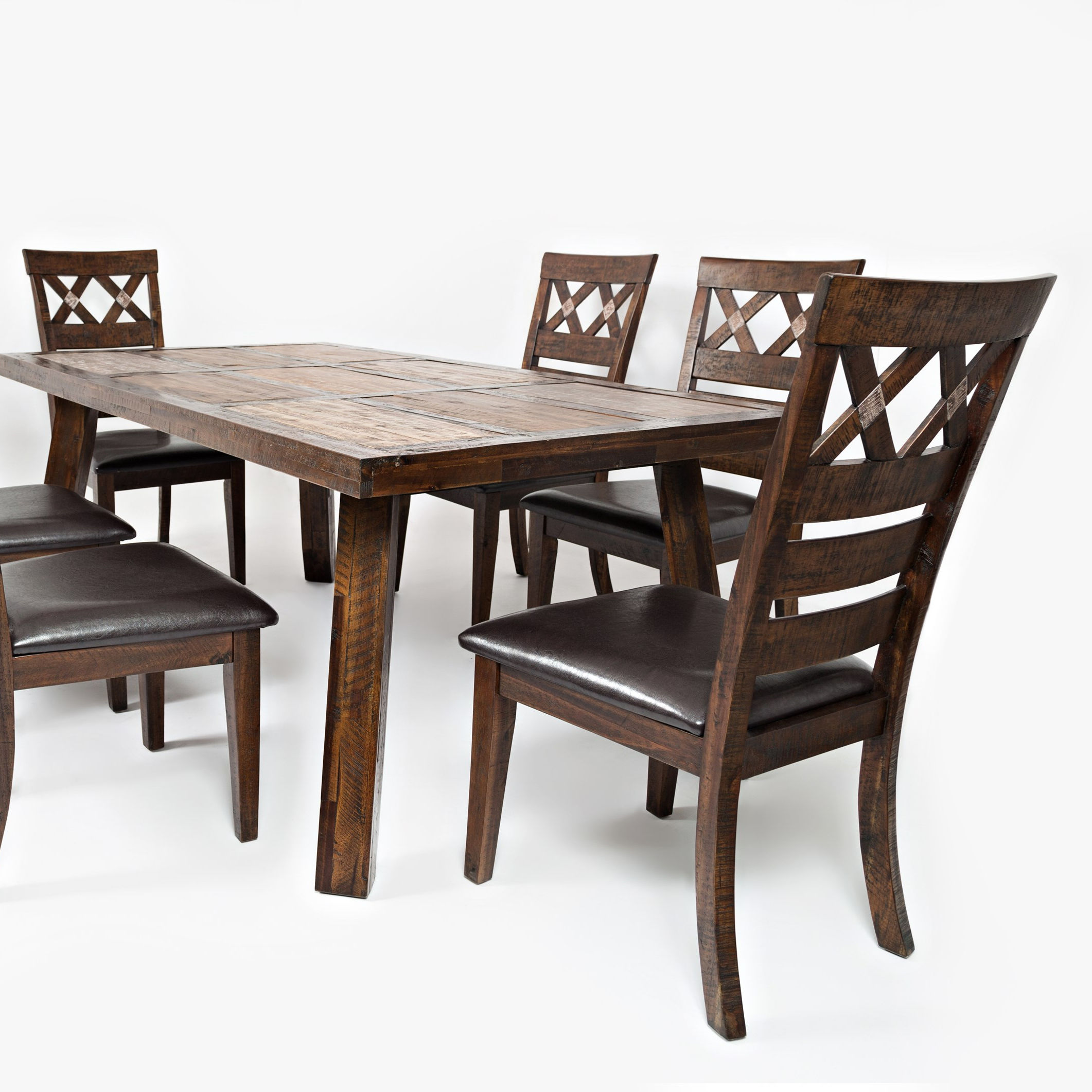 High Quality Cheap Modern solid wooden dining table with 6 chairs set