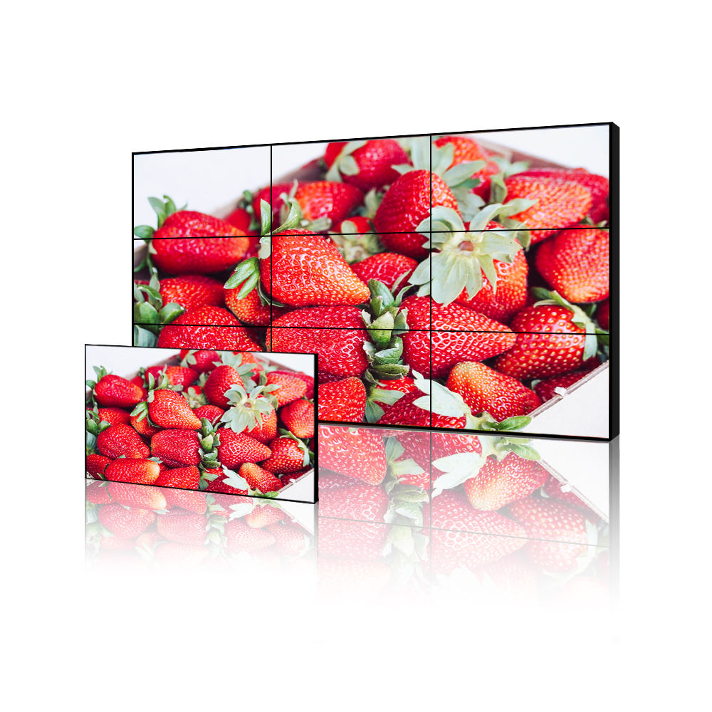advertising screen 1920x1080p 65 inch ultra narrow bezel display lcd full hd panels 100 inches video wall board controller