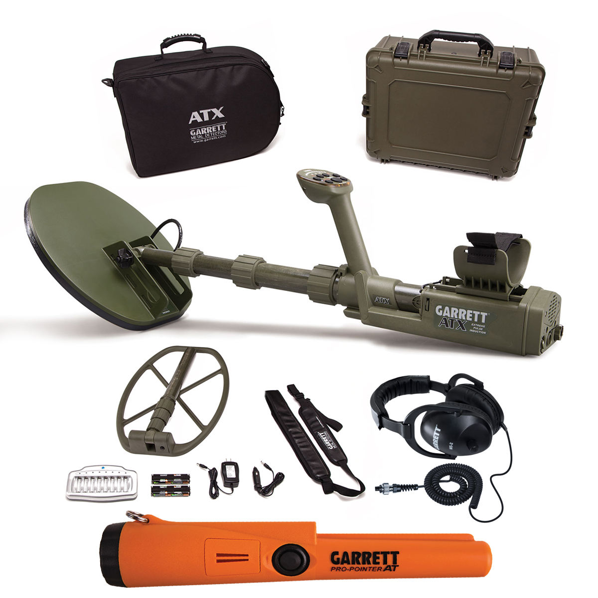 In Stock New GarrettS ATX Deepseeker Metal Detector with 2 Coils & Pro-Pointers AT Pinpointer