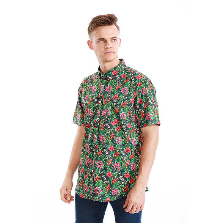 New Style Printed Hawaii Men Beach Summer Stylish Shirt for men
