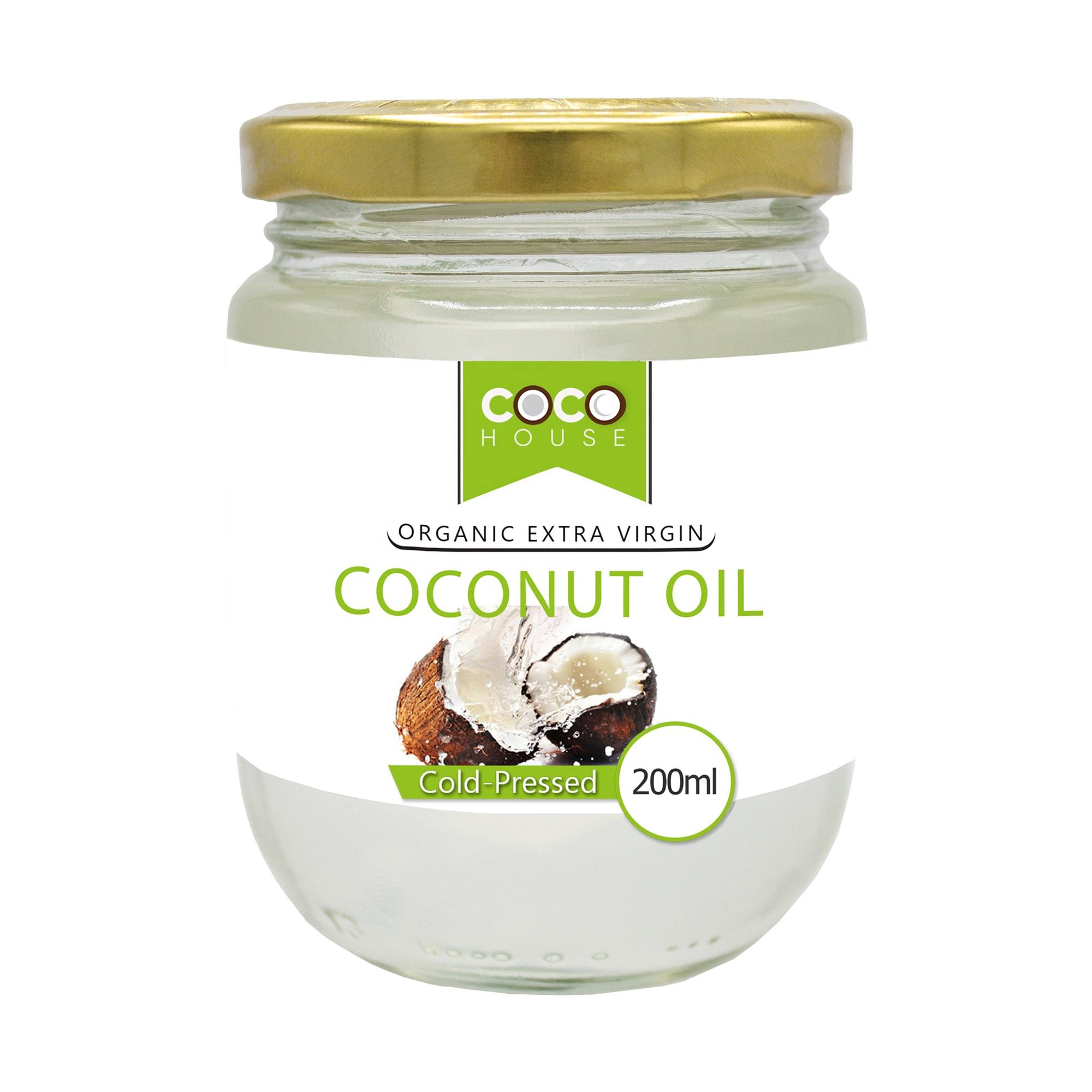 Coco House Organic Extra Virgin Coconut Oil 200Mlแก้วJar
