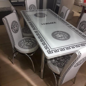 Extended table + chairs set economic price hot sales saving place