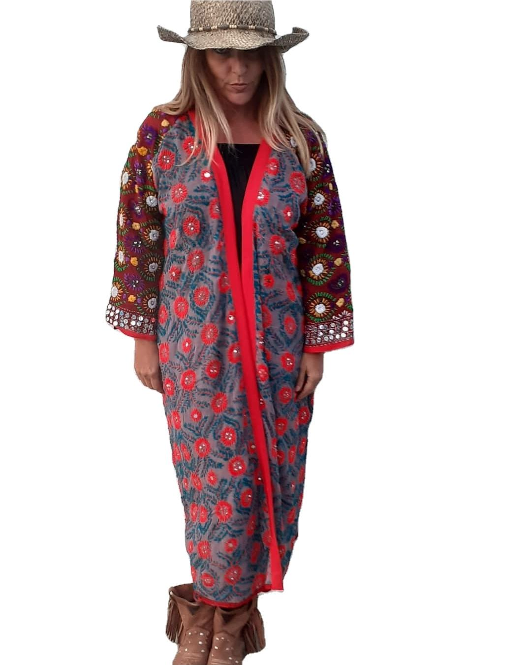 Jumpsuit Casual Beaded Summer Winter Cotton Hand Embroidery Technics Boho Ibiza Beachwear Indian Style Jumpsuit