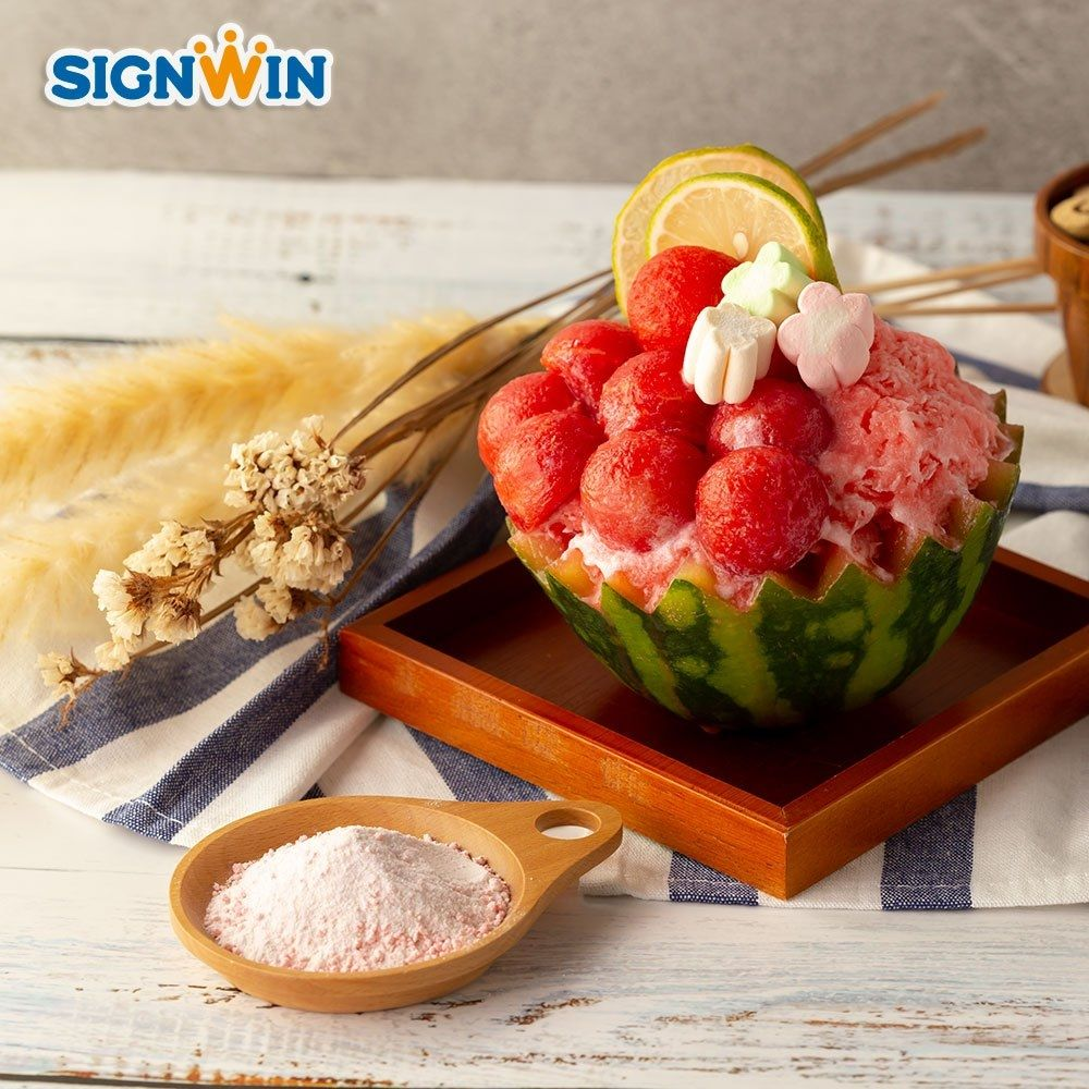 Taiwan Hot Selling Watermelon Snow Ice Powder